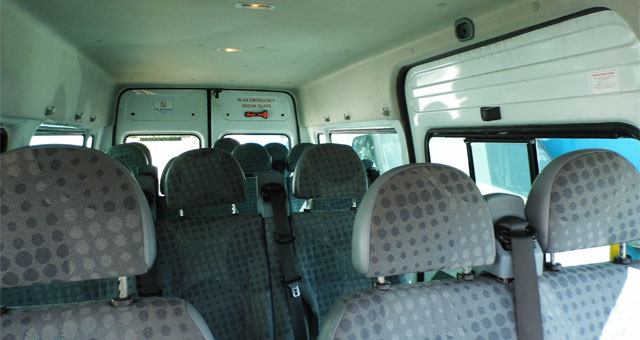 Impeccably cleaned minibus hire